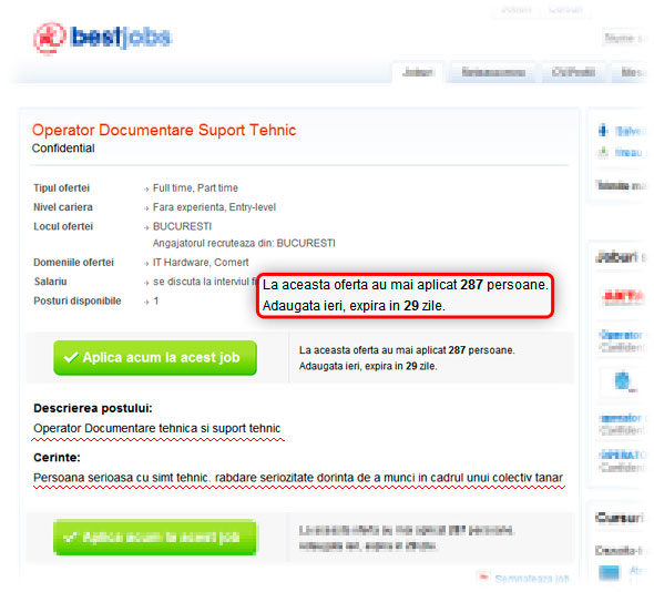 Bestjobs - Operator documentare suport tehnic